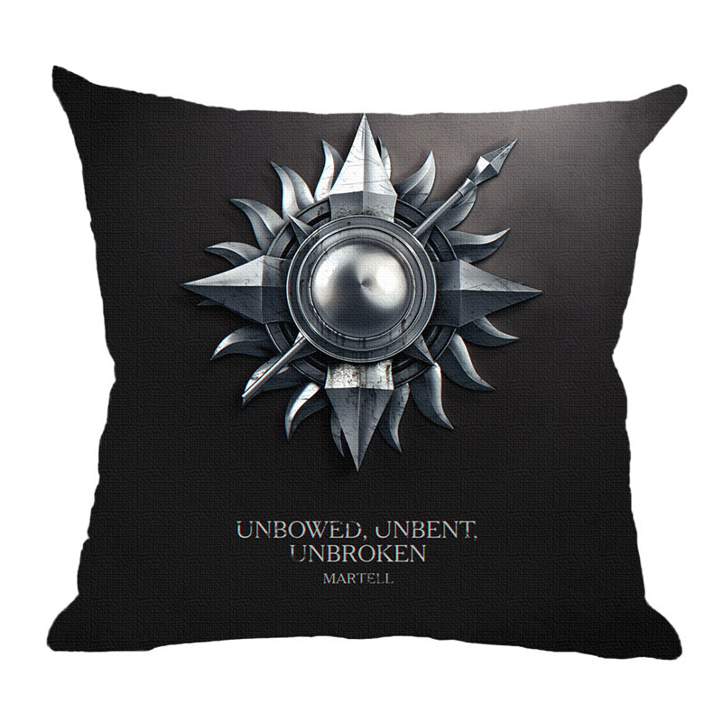 Hot sale Game Of Thrones Decorative Pillow 9 Family Clan Insignia Print Cushion 45*45 Home Decorative Pillow For Sofa no filling