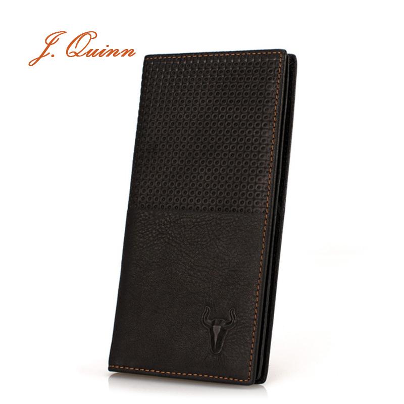 J.Quinn Bifold Men Wallet Plaid Cards Purse Male Leather Genuine Cow Zipper Pocket for Brand Men's Wallet Luxury Mens Portfolio(China (Mainland))