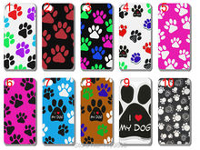 wholesale! new arrival Dog Puppy Paws case Silicon TPU soft back cover for iphone 5 5G 5S 10PCS/lot free shipping
