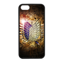 Attack On Titan Cartoon Logo Cover case for iphone 4 4s 5 5s 5c 6 6s plus samsung galaxy S3 S4 mini S5 S6 Note 2 3 4 z3431