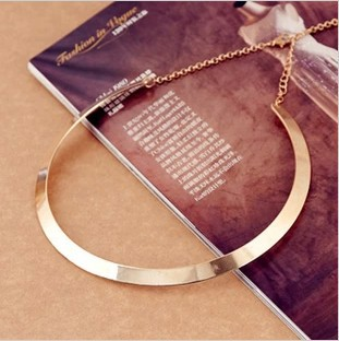 Fashion Making simple shape metal texture collar necklace narrow version of gold Free Shipping 2015 New