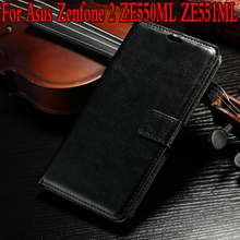 Wallet Stand Leather Case Asus Zenfone 2 ZE551ML/550ML Stylish Phone Bag Card holder case Cover - Sipaya 66 Store store