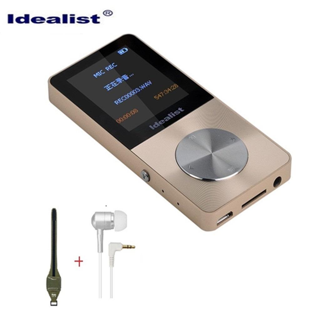 Brand Idealist Metal MP3 MP4 Player 4GB Slim Sport MP4 Game Lcd Flash Hifi Mini Music Video Player Speaker TF Recorder Walkman(China (Mainland))