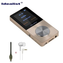 Brand Idealist Metal MP3 MP4 Player 4GB Slim Sport MP4 Game Lcd Flash Hifi Mini Music Video Player FM Radio TF Recorder Walkman