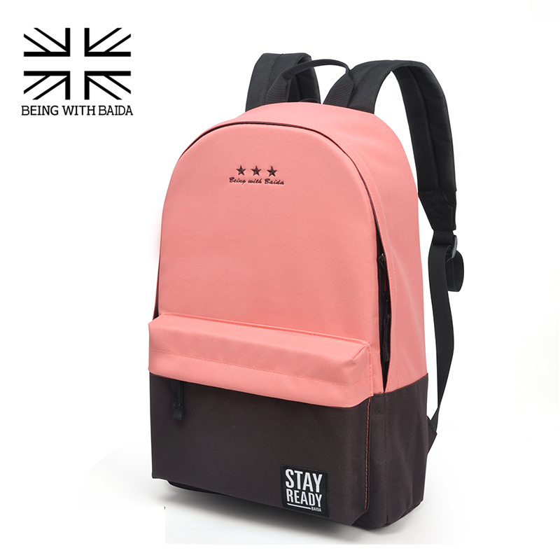 2016 Stylish Canvas School Backpacking Backpack Children Schools Back Pack Leisure Korean Style Knapsack Bags for teenage Girls(China (Mainland))