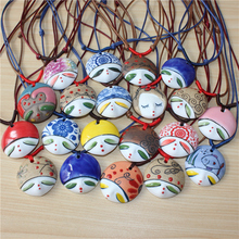 Free shipping quartz watch Beauty ceramic pendant necklace personalized facebook national doll trend accessories ine jewelry(China (Mainland))