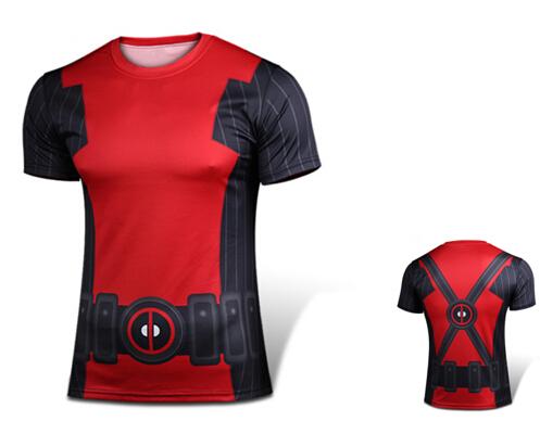 3D Men Marvel Superhero Deadpool Compression Sport Quick Dry Short Sleeve T Shirt Mens Clothing Bodybuilding Jersey Tee Shirts(China (Mainland))