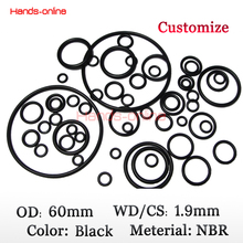 10pcs/lot 60×56.2×1.9 mm O-rings Rubber sealing  O Ring 60mm OD x  1.9mm CS
