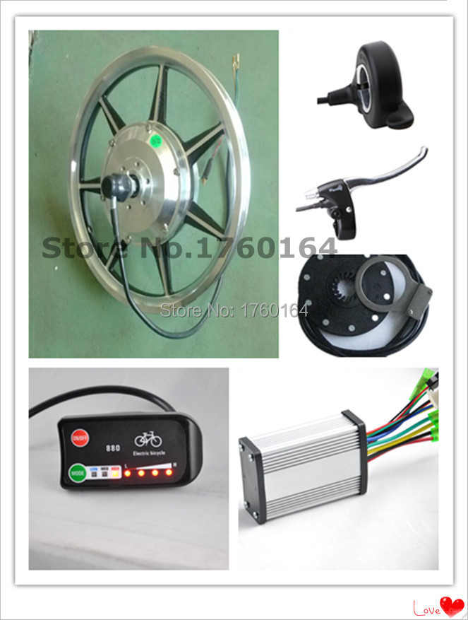 14'' 36V 250W Front Driving Motor Ebike Motor Disk Brake Electric Bicycle Conversion Kit(China (Mainland))