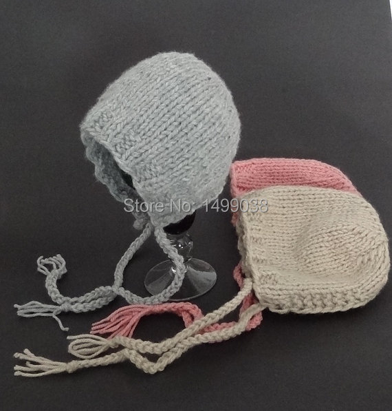 Classic Chunky Bonnet hat, Newborn Photo Prop knit boy and girl caps(China (Mainland))