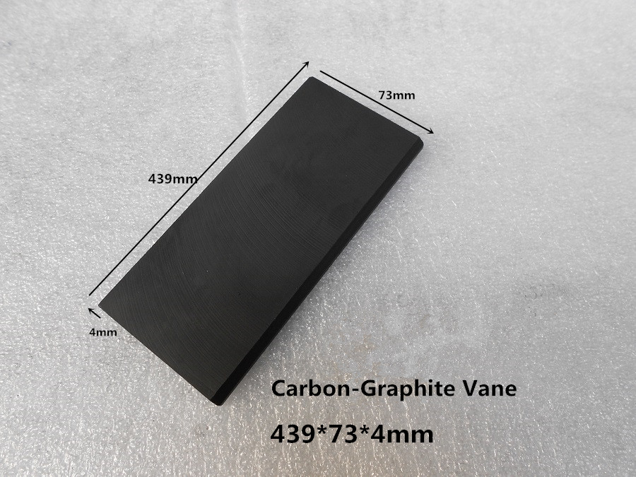 Фотография 439*73*4mm  Carbon vanes , Vane Blades  ,graphite sheet plate   ,Carbon Graphite Vanes