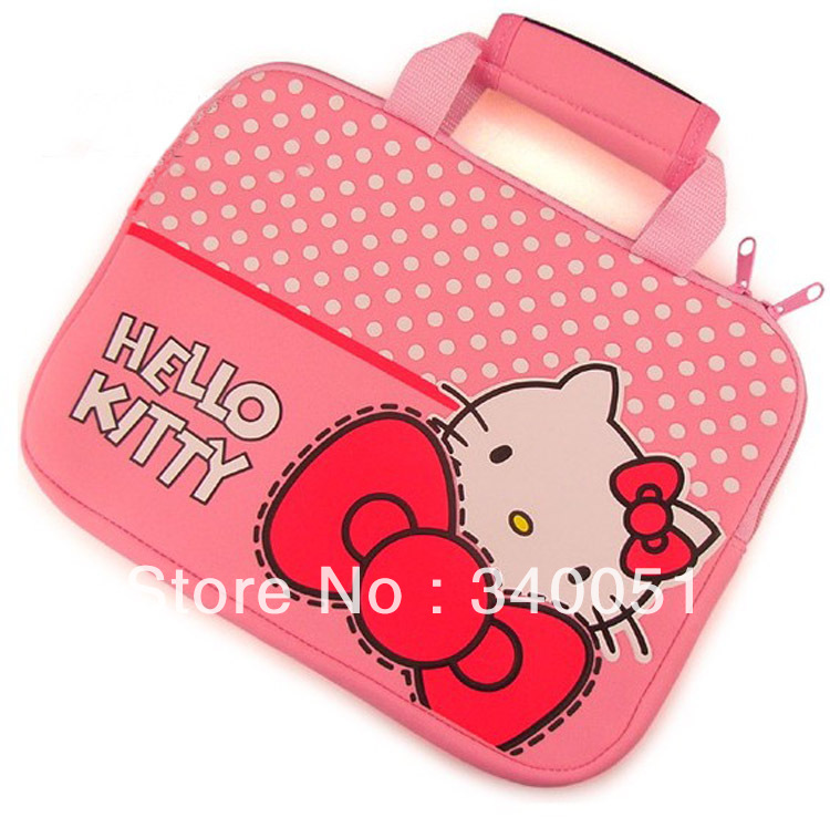 Hello Kitty Pattern 8 inch 9 inch 10 inch Laptop Bag Computer Bag +Free Shipping(China (Mainland))