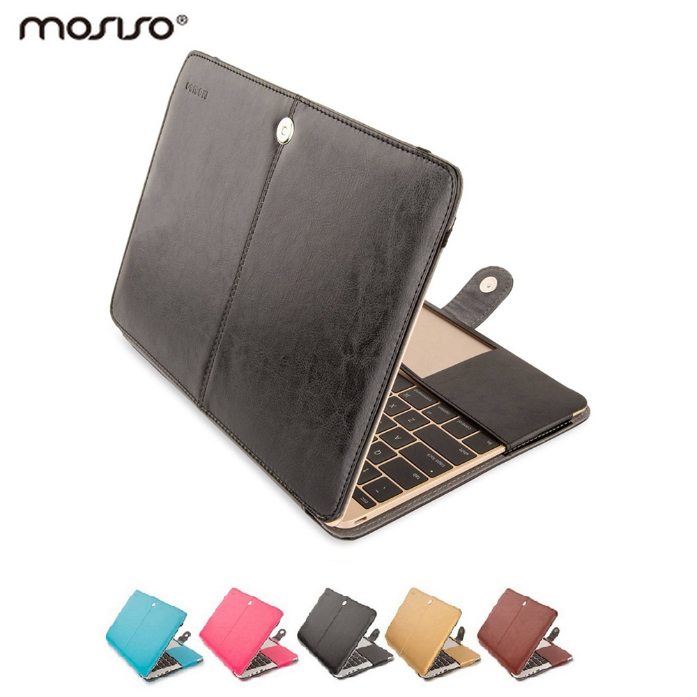 Mosiso Luxury PU Laptop Leather Sleeve Case for Apple Macbook 12 inch A1534 Notebook Ultra book Protective Shell Cover(China (Mainland))