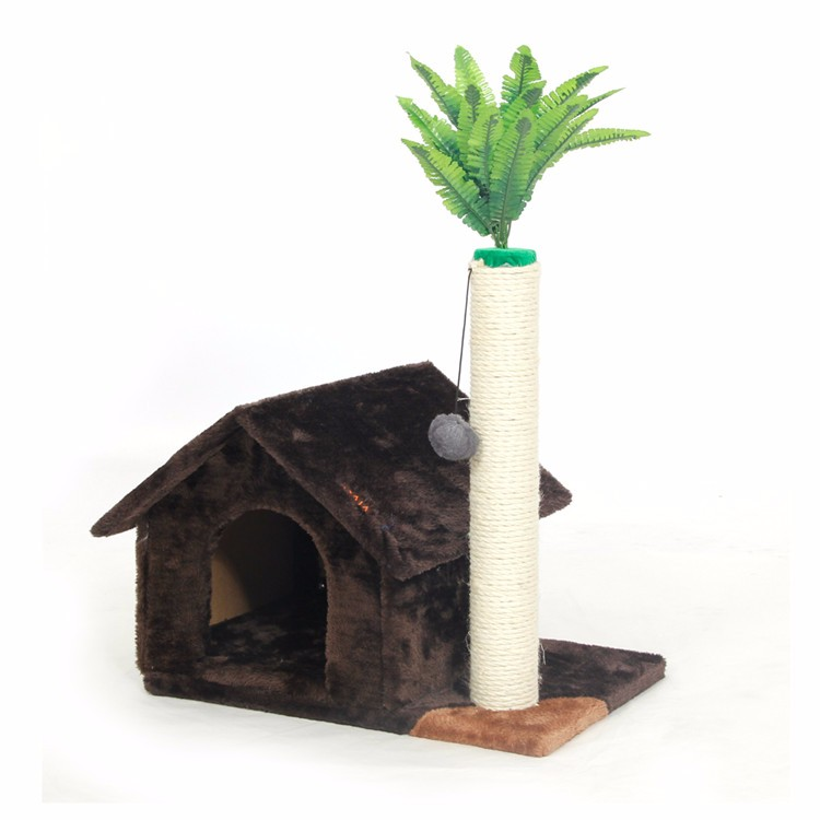 Scratching Wood Climbing House for Cat