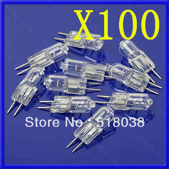 A25 Free Shipping 100X 20W 20 Watt G4 12V Halogen Light Bulb Base JC Type
