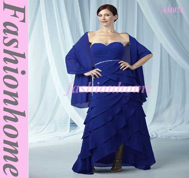 Attractive  Evening Party Dress ,formal lady Dress Offer Scarf  Royal Blue  AM076 ,Free Shipping Christmas Gift