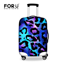 2016 Fashion Leopard Travel Luggage Covers Apple to18-30 inch Trunk Cases Brand Designer Trolley Suitcase Dustproof Rain Cover (China (Mainland))