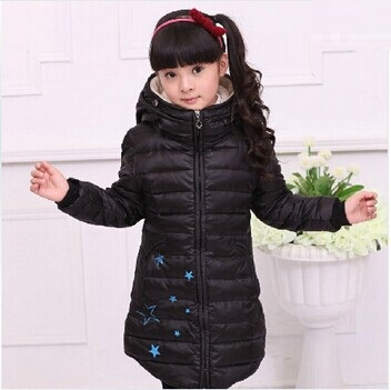 Retail 1Pc New2014 Jackets For Girl Girls Winter Thick Hooded Coat Children Medium-Long Casual Duck Down Coat Outwear CC1569<br><br>Aliexpress