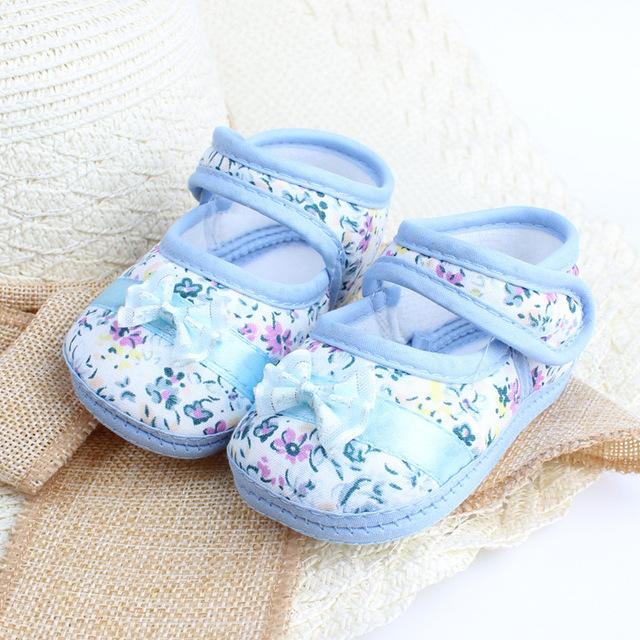 2016 девушки цветок печать малыша обувь весна осень дети обувь первые ходоки