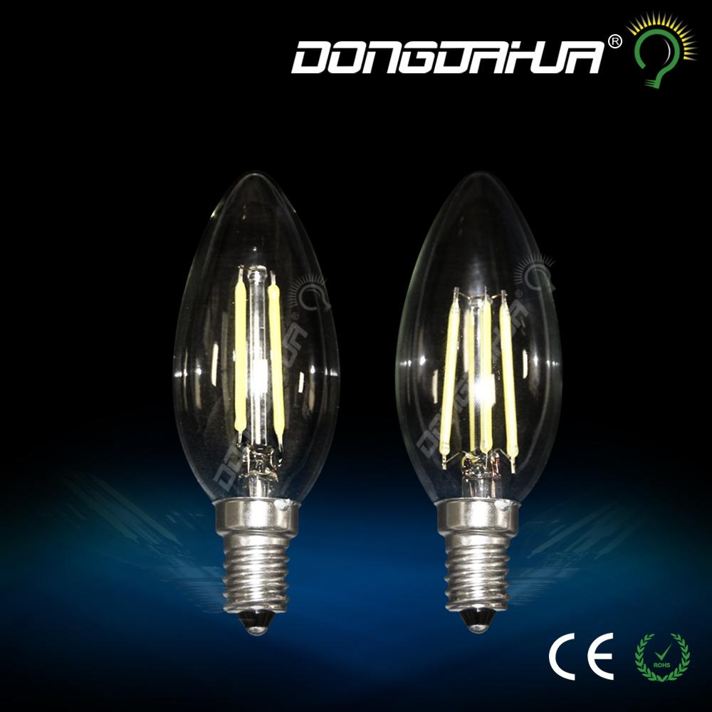 led candle bulbs E14 2w 4w C35 B10 Frosted edison retro LED Filament light Bulbs ampoule vintage LED lamp 110V 220V(China (Mainland))