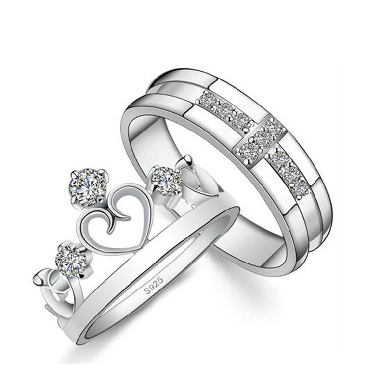 copper platinum plated crown ring the prince and princess