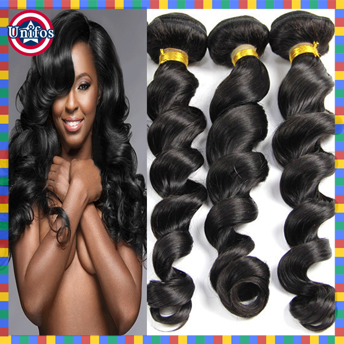 Brazilian Loose Wave Virgin Hair 3pcs Human Hair Extensions Virgin Loose Wave Bundles 26 28 30 Inch Brazilian Cheap Hair Online