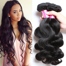 Queens Hair Products Brazilian Virgin Hair Body Wave 3 pieces Tissage Bresilienne 4,Wet and Wavy Stema Hair Brazilian Body Wave(China (Mainland))