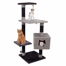 Domestic Delivery Cat Face Toy Playing&Climbing Furniture /House Cat Kitten Training Scratching Tree Pet Jumping Rope Post(China (Mainland))