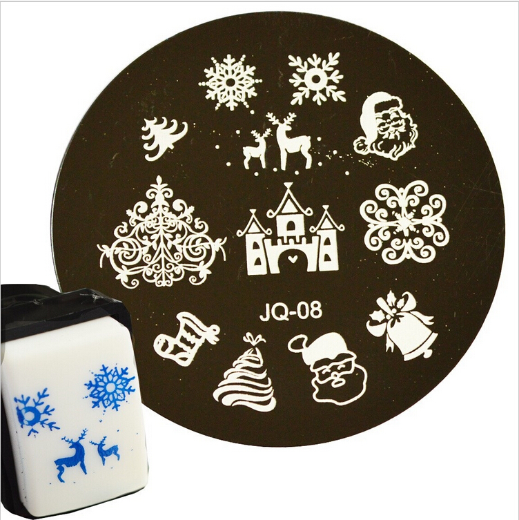 Гаджет  Nail Art Stamp Stamping 1 pc Christmas Style Stencils Nail Image Plate Stamper Polish Printing Template DIY Nail Tools JQN-08 None Красота и здоровье