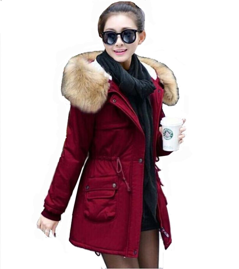 nouvelles 2015 paississement long hiver veste femme casual capuche molleton fur parka coton. Black Bedroom Furniture Sets. Home Design Ideas