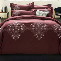 Embroidered Bedding Sets King Size,60s Cotton Duvet Covers Set, Luxury Bedding,Double Bed Linens Set bedclothes #XH4801