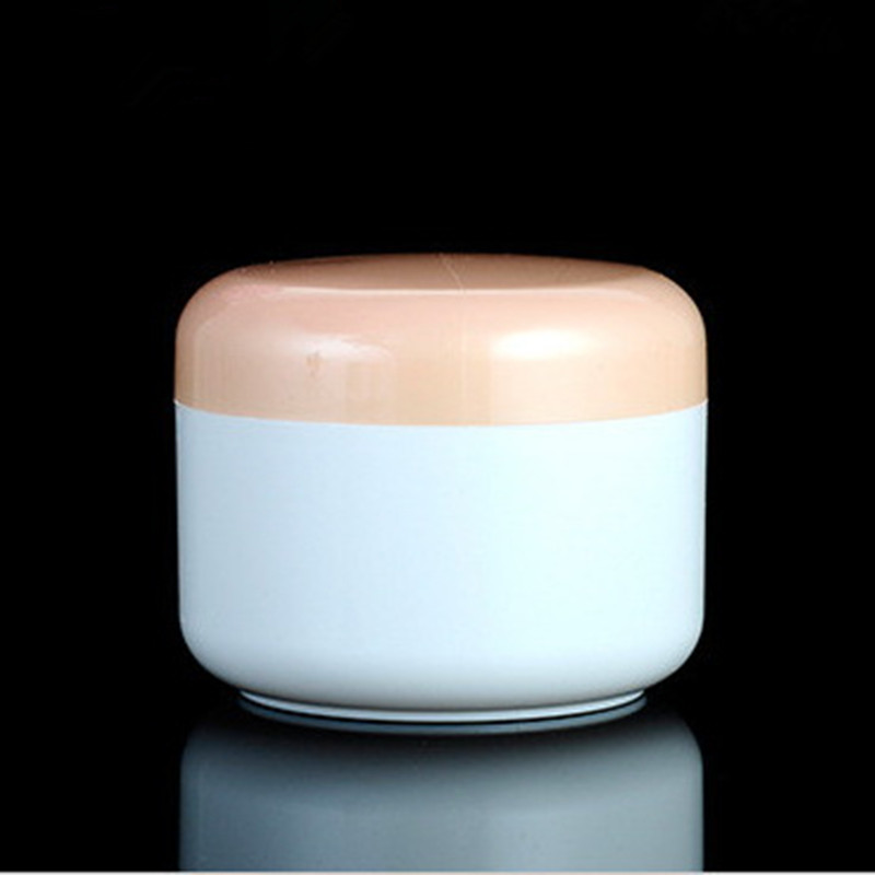 10pc/lot 100g White Color PP Cream Jar Orange Lid Empty Plastic Threaded Cover Cosmetic jars Containers Packaging - Riches Jin's store