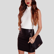 Buy 2017 Top Fashion Women Soft PU Leather Skirt High Waist Slim Hip Pencil Skirts Zipper Sexy Bodycon Mini Skirt Clubwear Plus Size for $7.29 in AliExpress store