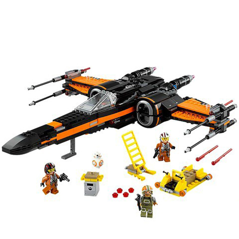 1set Building Blocks Super Heroes The Awakens Star Wars First Order Poe's X-Wing Star Fighter MiniFigures LP05004