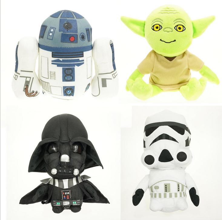 4PCS Disney Star Wars Darth Vader Plush white soldiers Yoda spaceship toys doll children star wars Children birthday gift girls(China (Mainland))