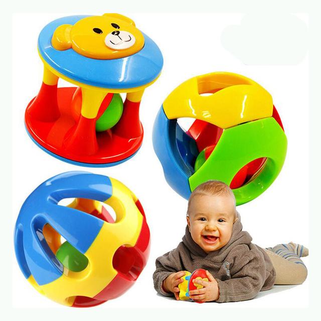 2 шт./компл. новый прекрасный погремушки пластиковые детские игрушки дрожание рук белл кольцо игрушки детские развивающие игрушки WJ264