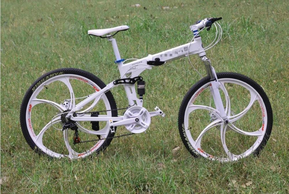 full suspension folding bikes 21/24/27/30 gear bicycle tire road mountain bike 26er M610/M780 road bicycle 29(China (Mainland))