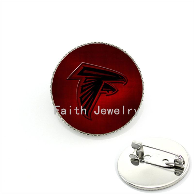 2016 latest fashion NFL team logo brooches case for Atlanta Falcons jewelry popular Football team brooch pin game gift New NF040(China (Mainland))