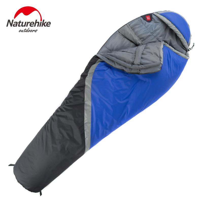 NatureHike Outdoor 2.2*0.85M Bule Red Camping Folding Splicing Mumymy Sleeping Bag Spring Winter(China (Mainland))