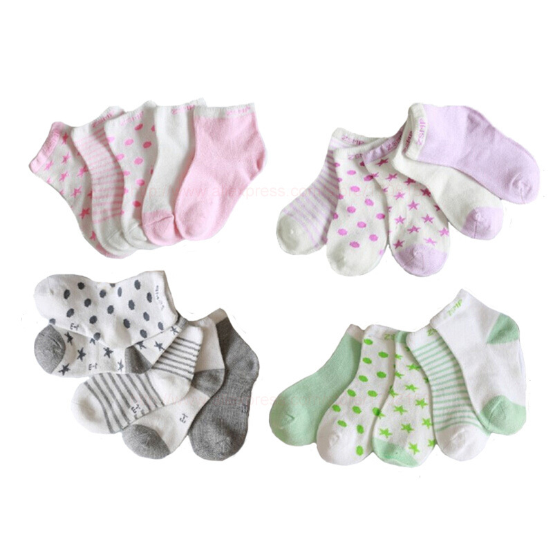 2015 New Spring Lovely Baby Girl Socks Candy Color Children Socks For Girls Autumn Socks For Boys High Quality 0-12years 5pairs(China (Mainland))