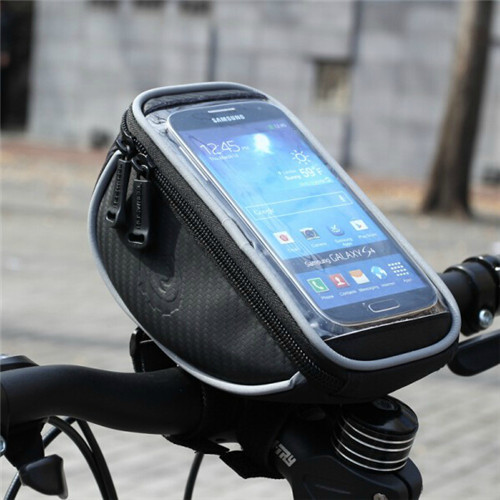 """ROSWHEEL Waterproof Bicycle bag Cycling front frame bag bike Handlebar Black Bag for 4.8"""" Touch Screen Cell Phone,Cycling GPS(China (Mainland))"""