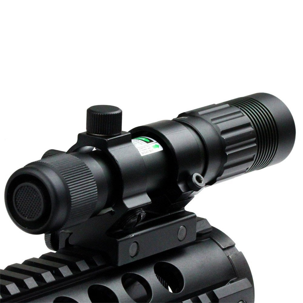 Latest Arrival Flashlight Adjustable Laser Sight Tactical Hunting Green Illuminator Designator with Weaver Mount and Switch<br><br>Aliexpress