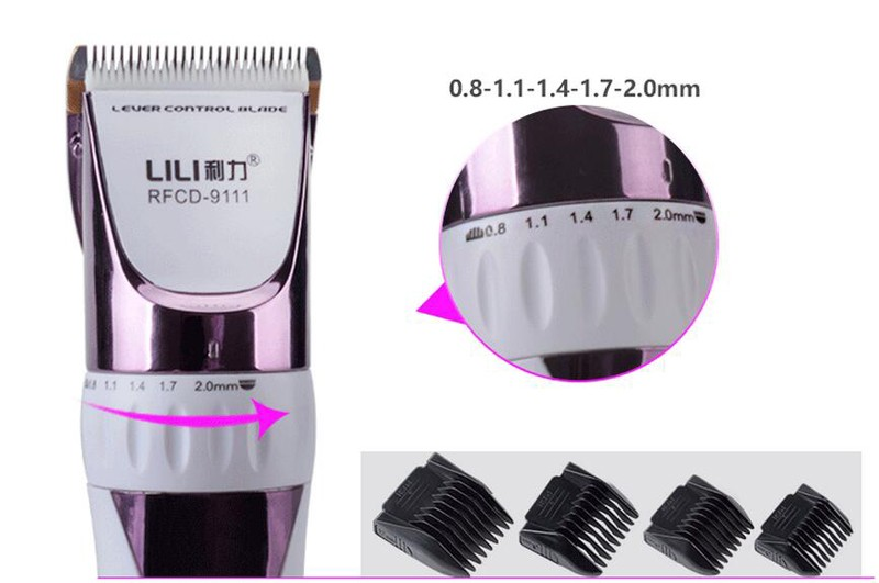 Professional Electric Hair Trimmer Rechargeable Hair Clipper LCD Display 3hrs Charging Mens Clipper Titanium Ceramic Blade