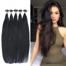 18″20″22″ Brazilian Remy Hair Straight 1g/s 50g Keratin U Nail Tip Human Hair Extensions