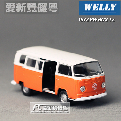 Wyly welly volkswagen boxed t2 bus 1970 alloy car models toy