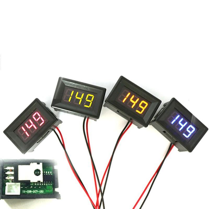 Green DC 0-30V 2 Wire LED Display Digital Voltage Voltmeter Panel Car Motorcycle Hot(China (Mainland))
