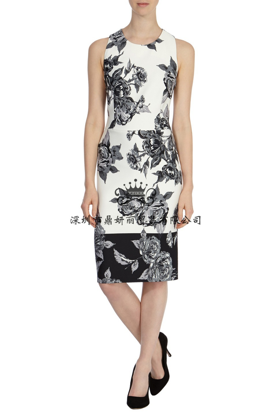 2015 New Arrival Star Runway Fashion Brand Desigual Plus Size XXXL Summer Women Sleeveeless Printed Slim Vintage Sexy Party Dres(China (Mainland))