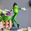 Animal Decorative Figurines Dancer Michael Crafts Creative Furnishing Articles Miniature Resin Frog Animal Decorative Figurines