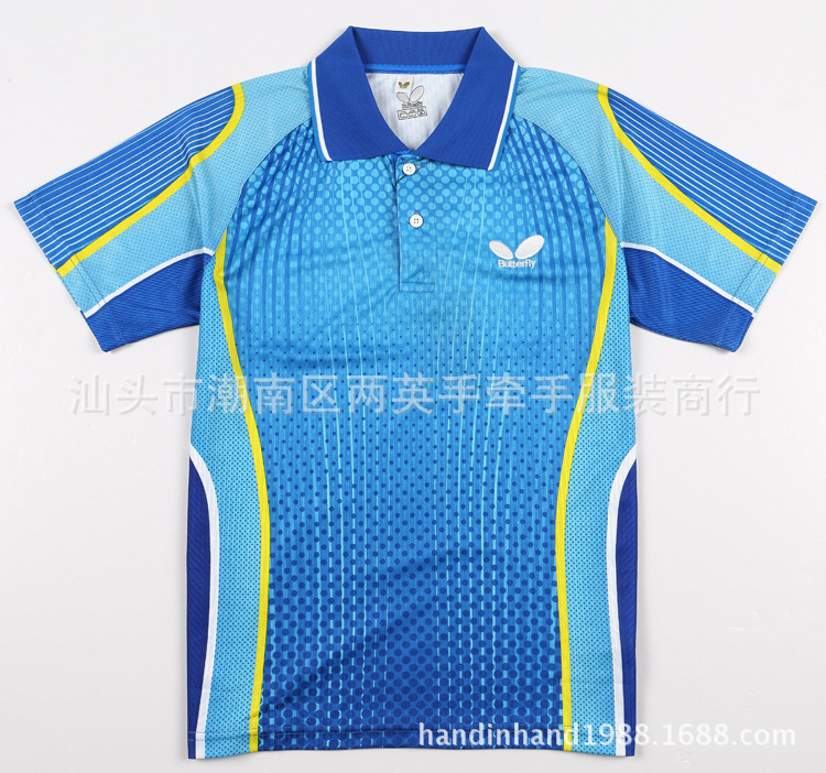 2015 the new Butterfly badminton shirt/ table tennis clothes/pingpeng clothing/able tennis clothes suit Lapel sport game Shirt(China (Mainland))