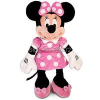 """Original Minnie Mouse Plush Toys Large Big 65CM 26"""" Minnie Pink Stuffed Doll Pelucia Mickey Friend  Kids Toys for Children Gifts"""